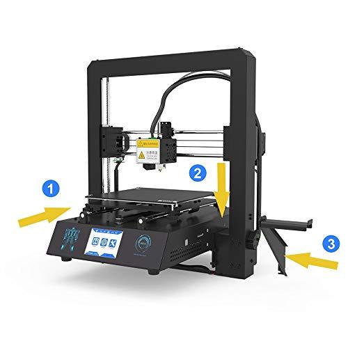 H.Y.FFYH Imprimante 3D Mega-S Imprimante 3D Mega Mise à Niveau Grand Plus La Taille Full Metal Écran Tactile TFT Imprimante 3D Haute Précision 3D Drucker