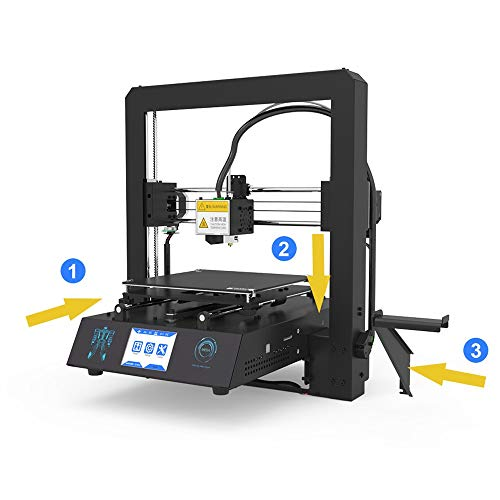H.Y.BBYH Imprimante 3D Mega-S Imprimante 3D Mega Mise à Niveau Grand Plus La Taille Full Metal Écran Tactile TFT Imprimante 3D Haute Précision 3D Drucker