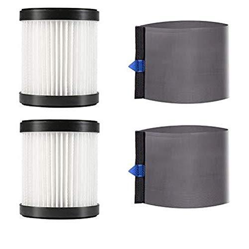 MooSoo 2 HEPA Filter und 2 Mesh Ärmel für X6 und X8 Akku Staubsauger