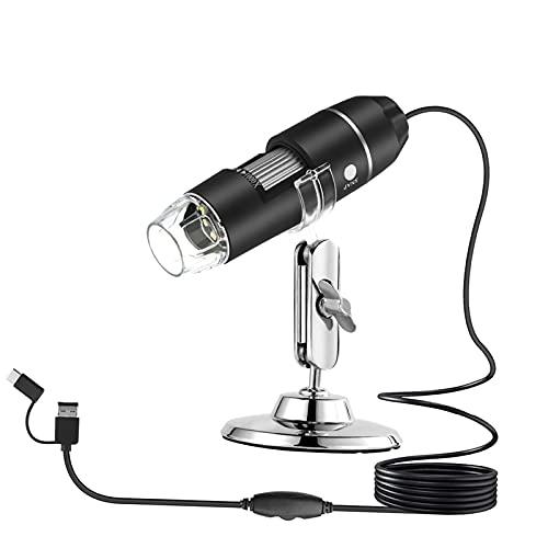 sharprepublic Microscopio de Ampliación USB de Mano 3 en 1 Lupa de Inspección