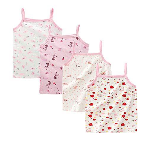 Kidear Series para niñas pequeñas 2-3 Paquetes Camiseta algodón Suave Camisola Tank Tops (Estilo1, 1-2 años)