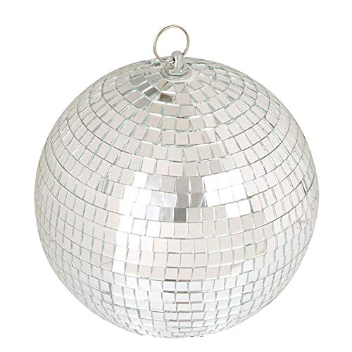 Bottles N Bags Stunning Disco Light Mirror Ball | 8' with Secure Loop for Easy Hanging | Perfect Decoration for Dance Parties & Wedding Receptions