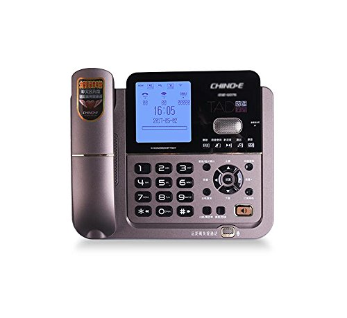 Teléfono Fijo, Fijo de la Oficina Comercial doméstica, Fijo de la guía telefónica de Correo de Voz (Color : Color Cafe)