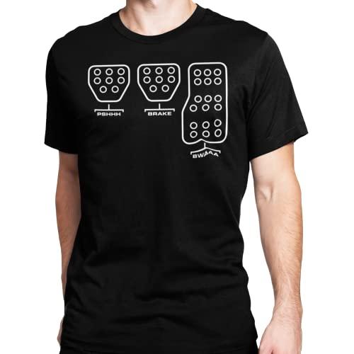 Subaru Pedal Shift Diagram T-Shirt (Large) Black