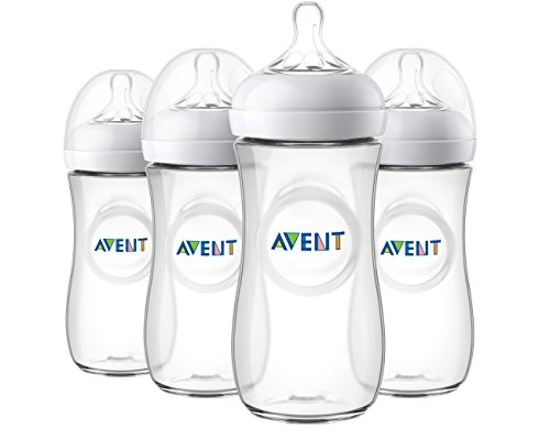 Philips Avent Natural Baby Bottle, Clear, 11 Oz, 4pk, SCF016/47