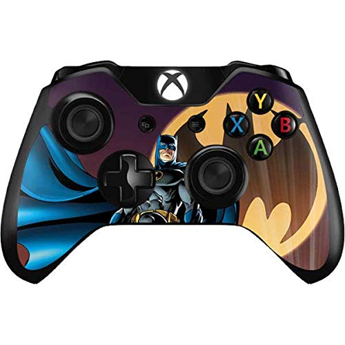 Skinit Decal Gaming Skin Compatible with Xbox One Controller - Officially Licensed Warner Bros Batman in The Sky Design