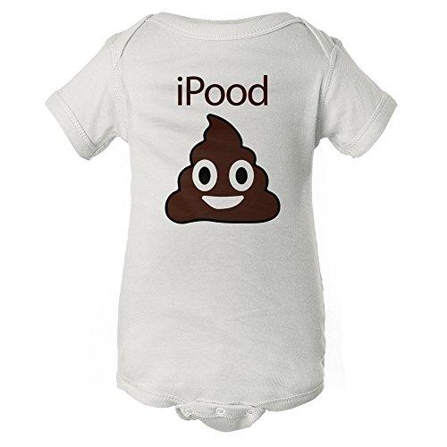 iPood - Poop Emoji - Funny Baby Onesie Pajamas w/Sleeves