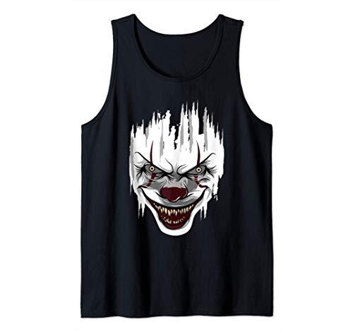 Payaso asesino de Halloween Mime Arlequín Derrador Payasos Camiseta sin Mangas