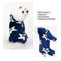 [実りの秋]犬の服 秋冬 星柄 フード付き 子犬 小型犬 ペット服 ドッグウェア 暖かい 洋服 かわいい 柔らかい 通気性 脱毛保護 防寒 お散歩 お出かけ 記念撮影 ペット用品