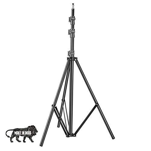 DIGITEK Lightweight & Portable 9 Feet Aluminum Alloy Studio Light Stand | for Videos | Portrait | Photography Lighting | Ideal for Outdoor & Indoor Shoots (DLS-9FEET)