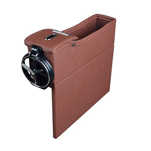 Sulifor Mehrzweck-Auto-Aufbewahrungsbox, Multifunktions-Aufbewahrungsbox Leder Box Auto Ersatzbox Sitz Schlitz Aufbewahrungsbox