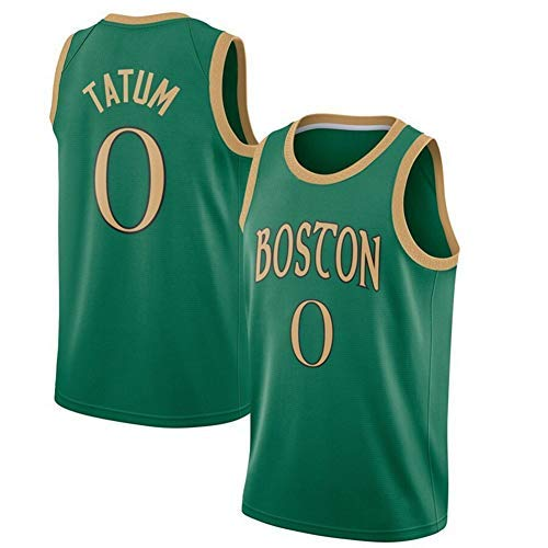 HGTRF Celtics # 0 Jayson Tatum Camiseta de Baloncesto para Hombre Ropa de Entrenamiento Deportivo Camiseta Bordada Chaleco de Secado rápido All-Star Casual L