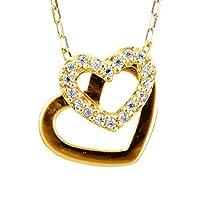 [ココカル]cococaru ダイヤモンド ネックレス k18 イエローゴールド/ホワイトゴールド/ピンクゴールド 品質保証書 金属アレルギー 日本製(イエローゴールド)