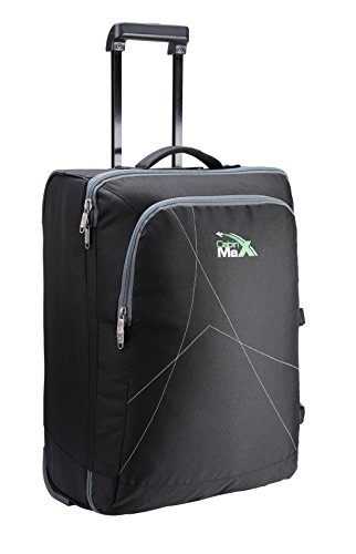 Cabin Max Dortmund Cabin Luggage Suitcase - Easyjet Sized Cabin Suitcase Measuring 55 x 40 x 25cm - Perfect Hand Luggage for Easyjet, Jet2 and Several Other Airlines(Black)