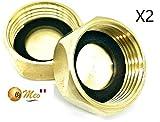 BYMEO, Bouchon Radiateur, Bouchon Plomberie Femelle [20/27 = 3/4] Pour Robinet exterieur, ...
