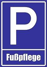 Kiwistar parkeerplaatsbord - voetverzorging 30 x 21 cm Stickers