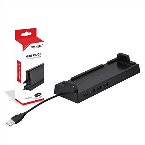 Dobe Switch 4 Port USB Hub Vertical Stand Dock for Nintendo Swich Console
