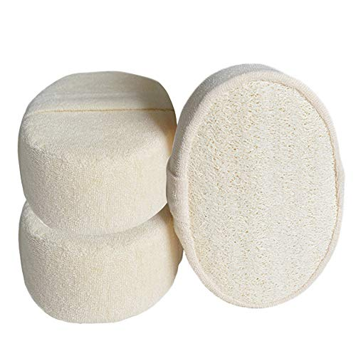 Baño de ducha Bola naturales de primera calidad Esponja del baño de la bola del frotamiento lavado Pot esponja Lavadora masaje con cepillo 3 pcs