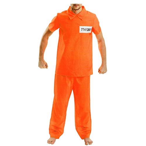 AM Disfraz de preso estadounidense para hombre, color naranja
