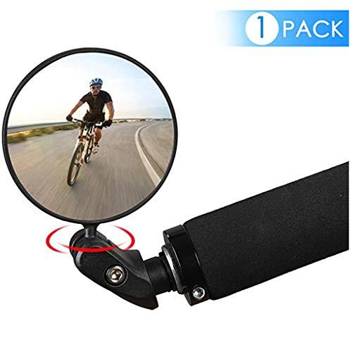 JUSHINI Fahrradrückspiegel Fahrradspiegel 1PC Aluminium Fahrradspiegel Fahrrad Verstellbar Hinten Lenker Ende Fahrrad Lenker Rückspiegel für Fahrradradfahren Mountainbikes Rennräder