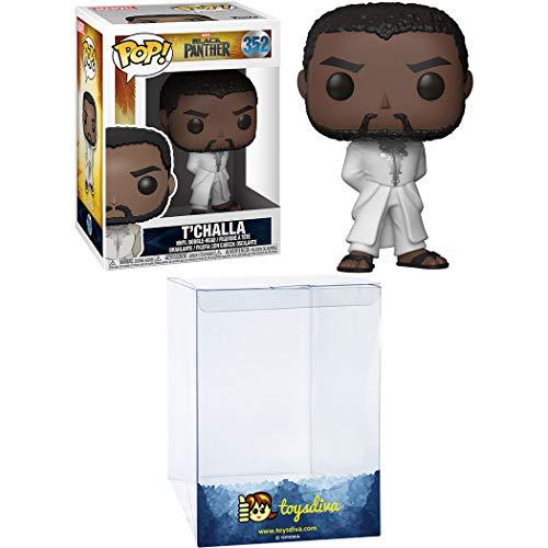 T'Challa: Funk o Pop! Paquete de figura de vinilo con 1 protector gráfico compatible con ToysDiva (352 - 31287 - B)
