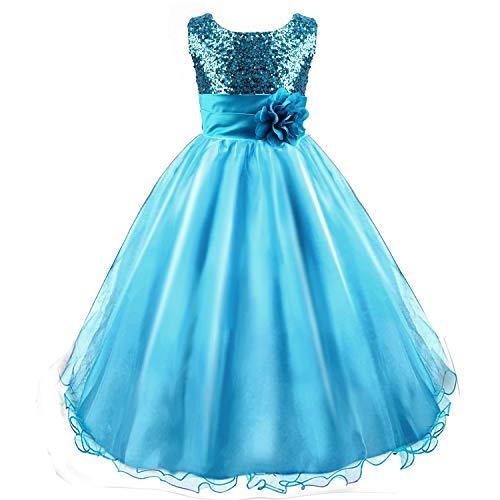 Discoball chica vestido princesa vestido de lentejuelas flores fiesta de cumpleaños boda...
