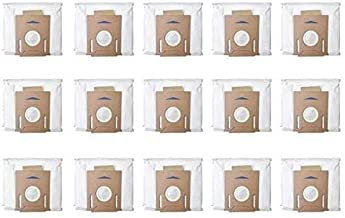 15Pcs for DEEBOT OZMO T8 Robot Vacuum Cleaner High Capacity Leakproof Dust Bag Replacement Accessories Parts Kit Vacuum Cl...