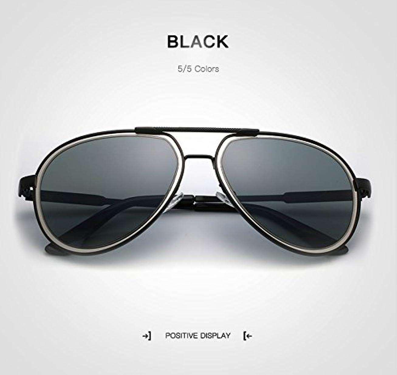非効率的なそれらたくさんのサングラス 男性 偏光 太陽鏡 レトロパイロットサングラス サングラス メガネ, ファッションサングラス