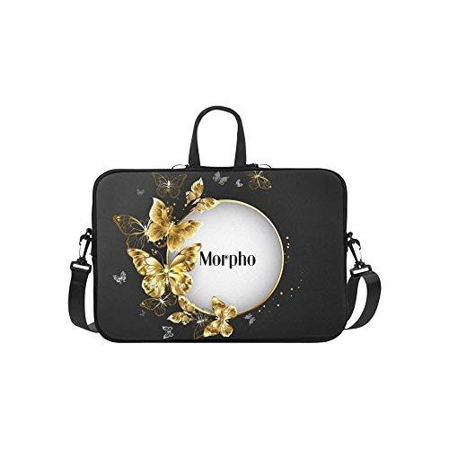 Runde Rahmen verziert Goldschmuck Schmetterlinge Aktentasche Laptoptasche Messenger Schulter Arbeitstasche Crossbody Handtasche für Geschäftsreisen