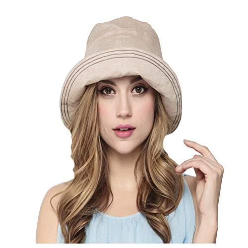 Cubo Sombrero Mujeres Verano Protector Plegable Jardín Solar Sombrero Modernas Casual De...