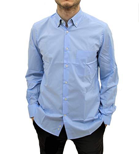 ALVIERO MARTINI Camicia B.D. Regular Azzurra Geo (38)