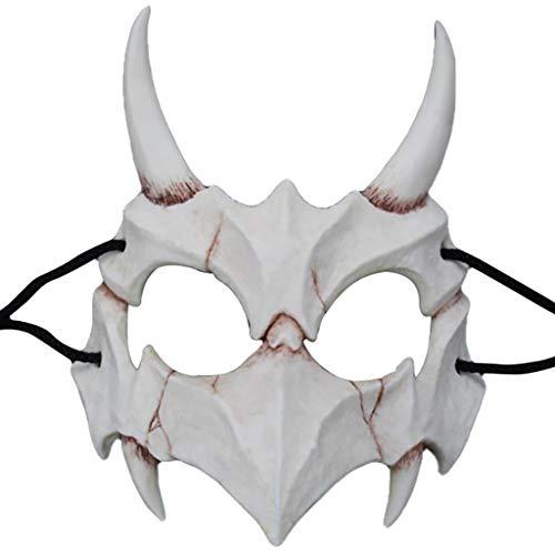 AmaMary Resina Estilo japonés Kurato Mito Desnudo Tengu Ryujin Máscara Halloween Props (Yasha)