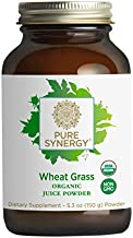 Pure Synergy USDA Organic Wheat Grass Juice Powder (5.3 oz) 100% Made and Sourced in The USA, Non-GMO