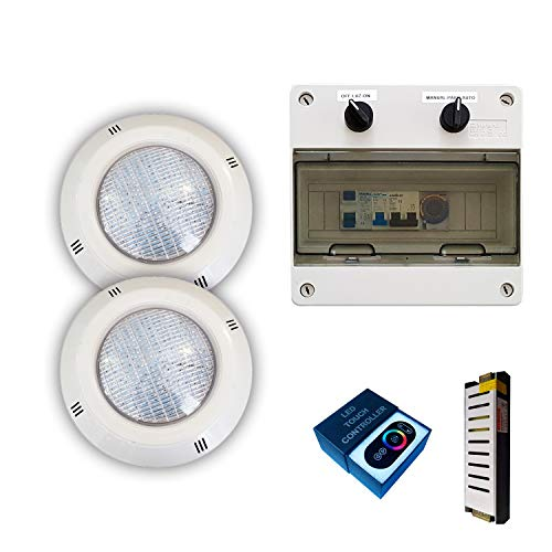Pack Focos LED RGBV+ 18W cable de 4 hilos configurable + Transformador...