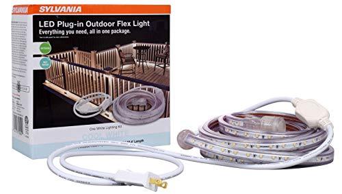 LEDVANCE, 4000K 75622 Plug-in Outdoor Flex LED Strip Light Kit, 16ft 4in, 16.4ft Cool White