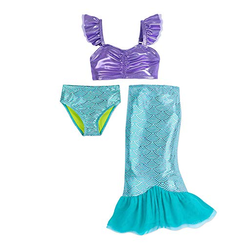 AmzBarley Girls Little Mermaid Ariel Tails Swimsuit Bathing Suit for Swimming Costume Clothes