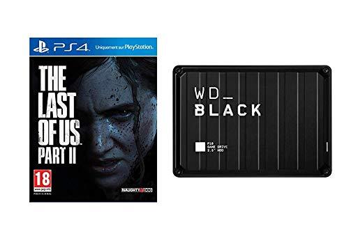 The Last of Us Part 2 sur PS4, Édition Standard avec WD_Black P10 2To - Disque Dur Portable Externe Gaming pour Un accès Mobile à Votre bibliothèque de Jeux, Fonctionne sur Console et PC
