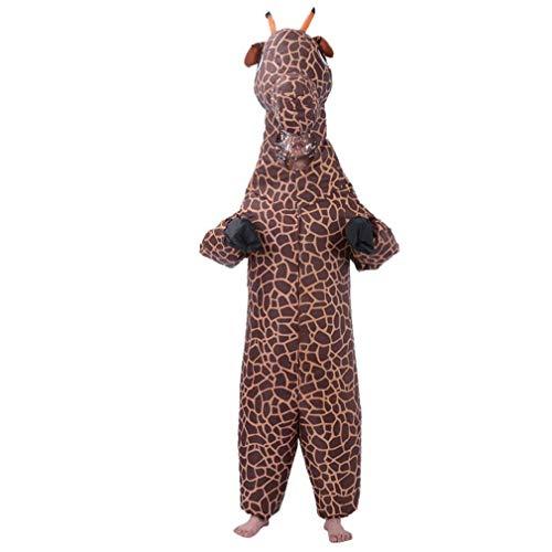 PiniceCore Aufblasbares Kostüm-Erwachsene Halloween Giraffe Aufblasbarer Anzug Karikatur-Tier Modelling-Show-Party Kleidung 150-180cm