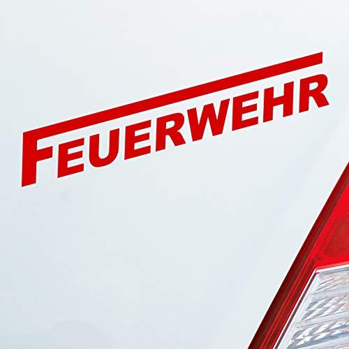 Auto Aufkleber in deiner Wunschfarbe Feuerwehr langes F Leben Retten Löschen Bergen 19x3 cm Autoaufkleber Sticker