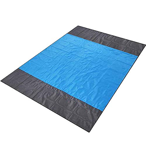 Hivernou Sand Free Beach Mat, 82' X79'Oversized Sand Free Beach Blanket, Outdoor Picnic Blanket with...