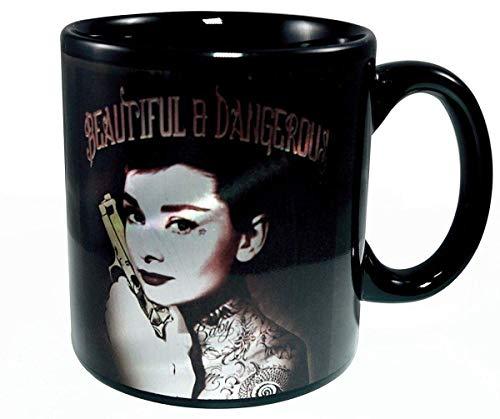 Audrey Hepburn Schöne und gefährliche 20 Unzen Keramik Kaffeetasse