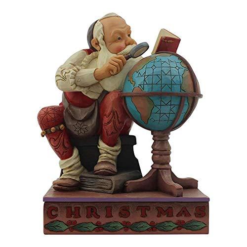 Enesco Saturday Evening Post by Jim Shore Santa with Globe Figurine