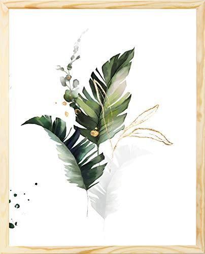 postergaleria Bilderrahmen | Holz | Plexiglas | 8 Farben | 10 Größen | Posterrahmen | Fotorahmen (50x70 cm, Eko)