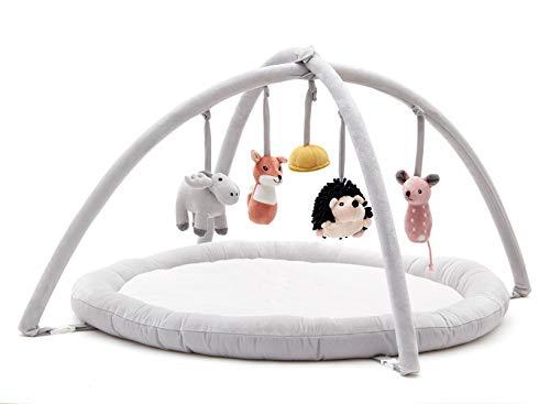 Kids Concept 1000288 Edvin Tapis de Jeu pour Enfant Blanc/Gris