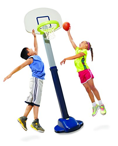 Little Tikes Adjust and Jam Pro Basketball Set, Blue