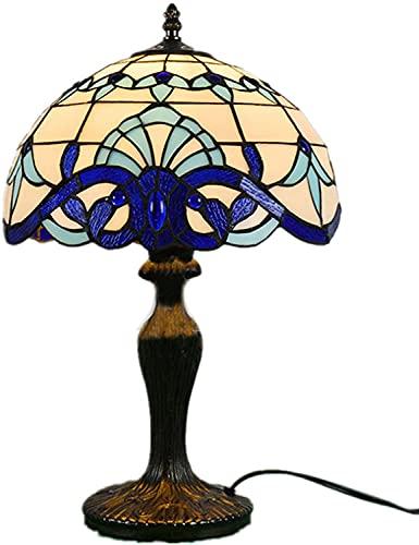 Lamparas De Mesa Salón Tiffany Azul Marca TOPNIU
