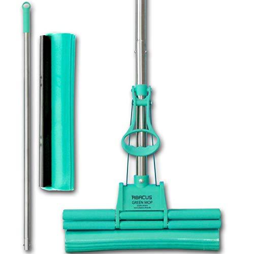 Preisvergleich Produktbild ABACUS 30 cm Green Mop + Ersatzschwamm
