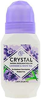 Crystal Mineral Deodorant Roll-On, Lavender & White Tea 2.25 oz (Pack of 5)