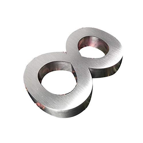 WUAHEIE Señal de casa flotante 3D número de casa 0-9ABC para exteriores,...