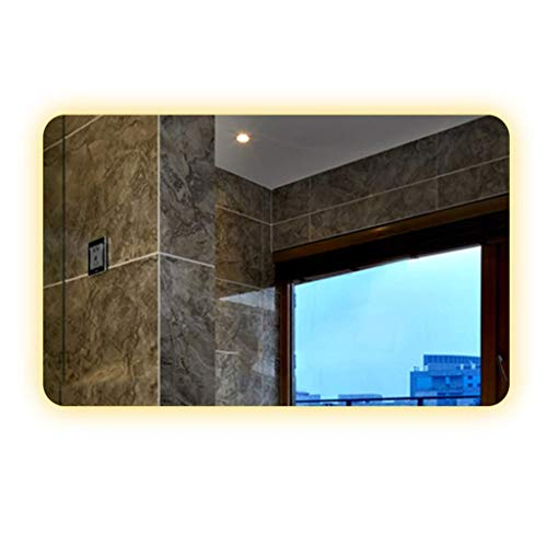 Household nachtzichtspiegel met led-touchscreen, badkamerspiegel met verlichte spiegel 60*80*3CM Chroom.